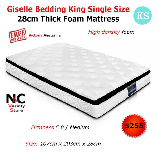 watch 3fa1e c0291 Giselle Bedding King Single Size 28cm Thick Foam Mattress