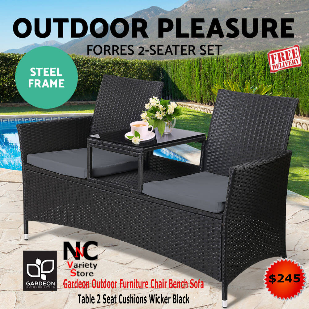 Fabulous Gardeon Outdoor Furniture Chair Bench Sofa Table 2 Seat Home Interior And Landscaping Oversignezvosmurscom