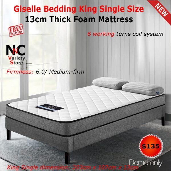 cheap for discount a115b 0adb8 Giselle Bedding King Single Size 13cm Thick Foam Mattress