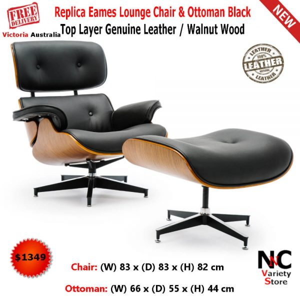 Cool Replica Eames Lounge Chair Ottoman Black Top Layer Genuine Leather Walnut Wood Bralicious Painted Fabric Chair Ideas Braliciousco