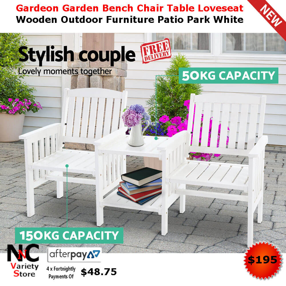 Awesome Gardeon Garden Bench Chair Table Loveseat Wooden Outdoor Interior Design Ideas Tzicisoteloinfo