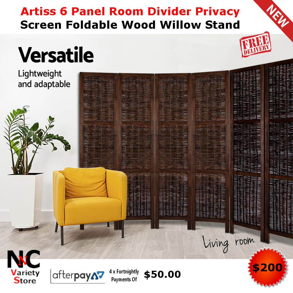 Enjoyable Artiss 6 Panel Room Divider Privacy Screen Foldable Wood Download Free Architecture Designs Embacsunscenecom