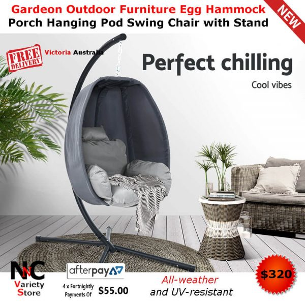 Cool Gardeon Outdoor Furniture Egg Hammock Hanging Swing Chair Pod Lounge Chairs Gmtry Best Dining Table And Chair Ideas Images Gmtryco