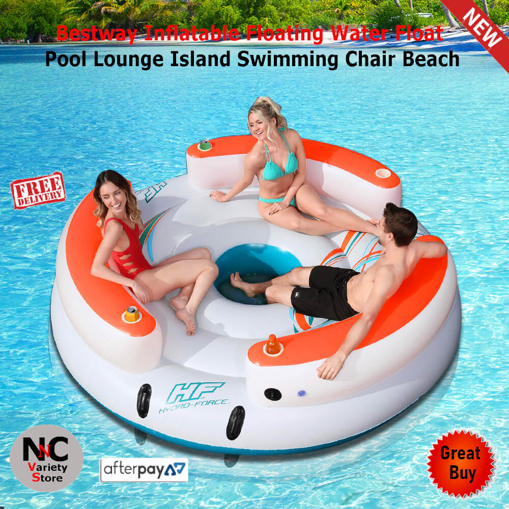 Bestway Inflatable Floating Water Float Pool Lounge Island Swimming Chair Beach Nice N Cheap Variety Store