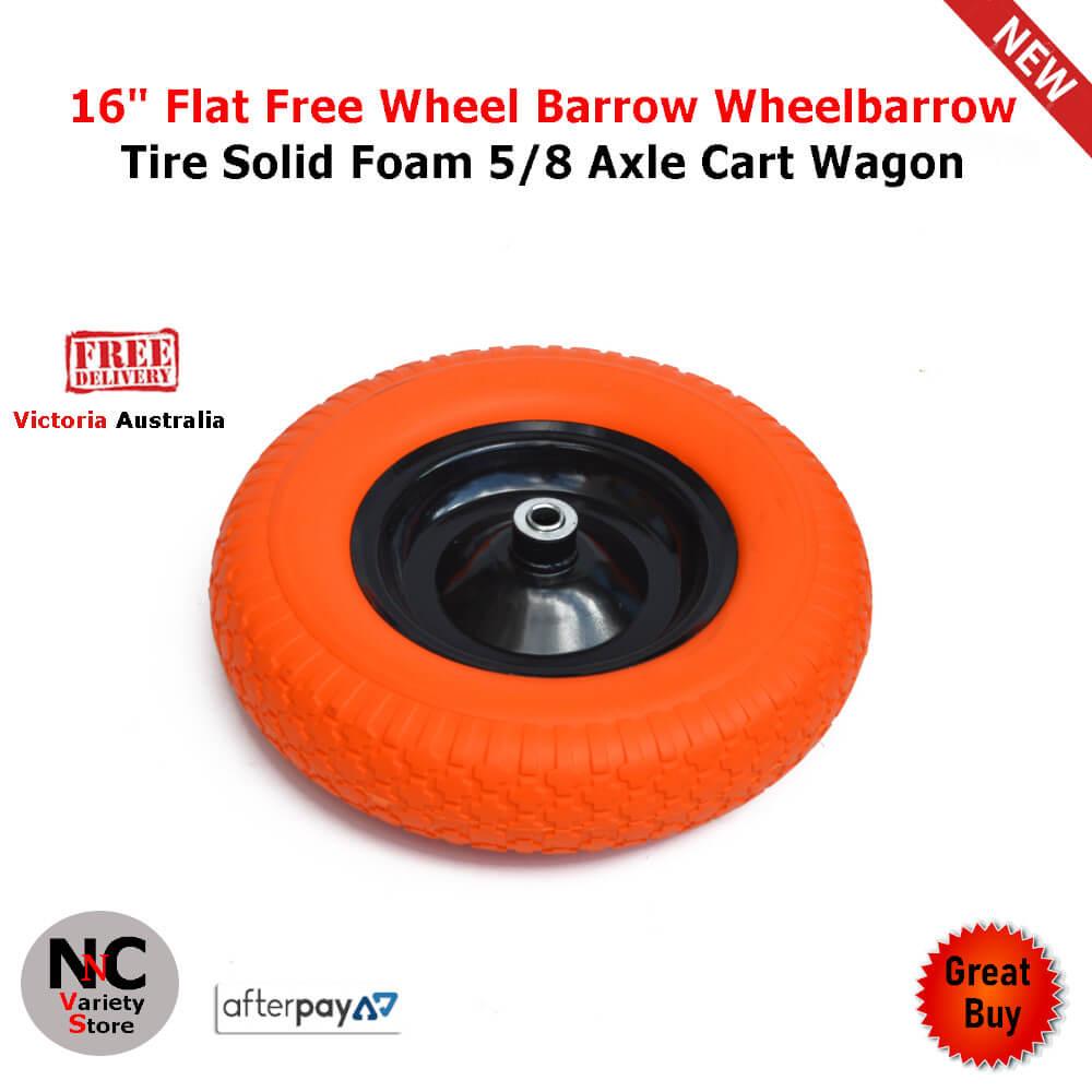 "16/""  Flat Free Wheel Tire Solid Foam 5//8 Axle Cart Wagon Portable Tool  Yellow"