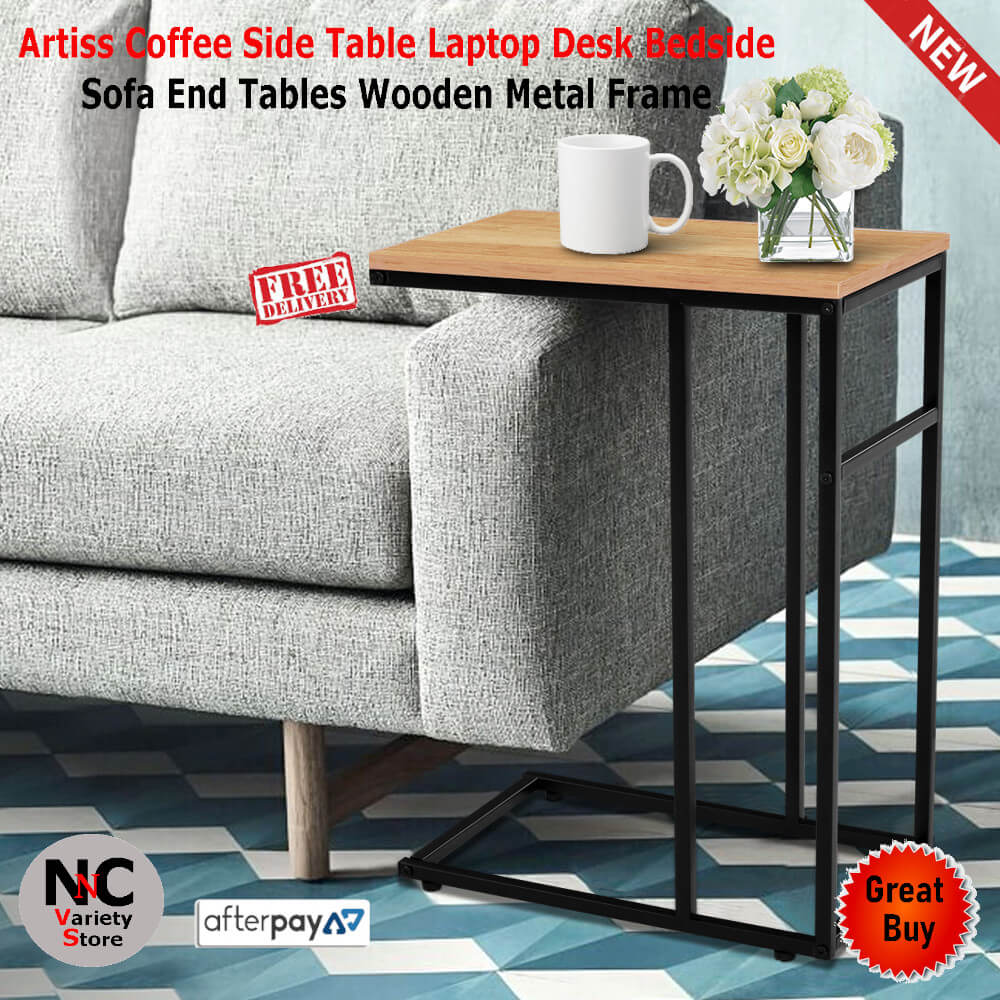 Artiss Coffee Side Table Laptop Desk Bedside Sofa End Tables Wooden Metal Frame Nice N Cheap Variety Store